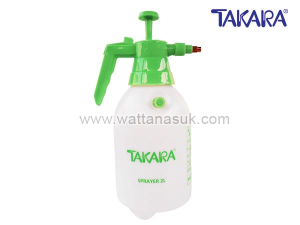 กระบอกฉีดพ่นยา 2 สิตร (เขียว) มีวาล์ว TAKARA