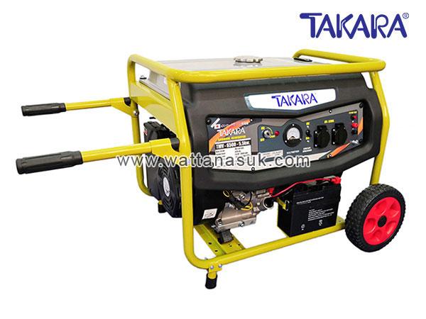 MGT303 เครื่องปั่นไฟแก๊สโซฮอล์ รุ่น TMV-6000 (5.5 กิโลวัตต์) มีลูกล้อ TAKARA