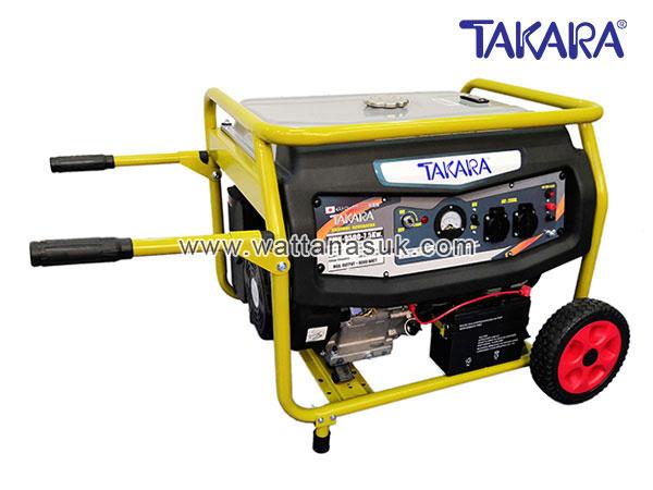MGT304 เครื่องปั่นไฟแก๊สโซฮอล์ รุ่น TMV-9500 (7.5 กิโลวัตต์) มีลูกล้อ TAKARA